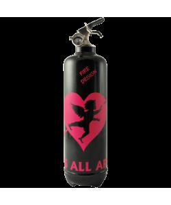 fire extinguisher design cupidon black pink