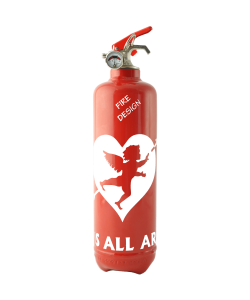 fire extinguisher design cupidon red white
