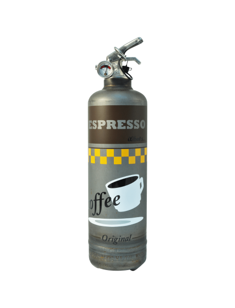 fire extinguisher design espresso vintage