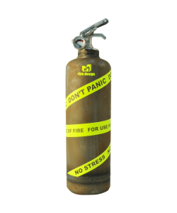 fire extinguisher design expert vintage yellow