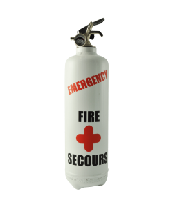 extincteur design emergency blanc