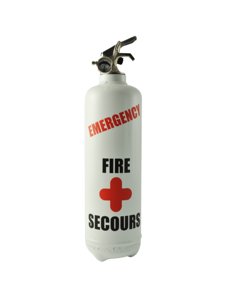 Fire extinguisher design emergency white