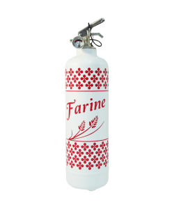 fire extinguisher design farine white