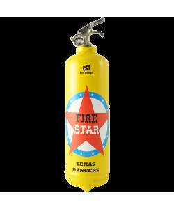 extincteur design fire star jaune