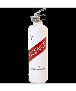 extincteur design licence IV blanc