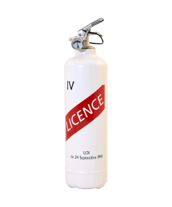 fire extinguisher design Licence IV white
