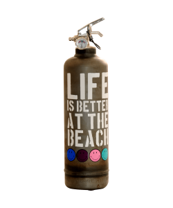 Fire extinguisher design Smiley Beach vintage