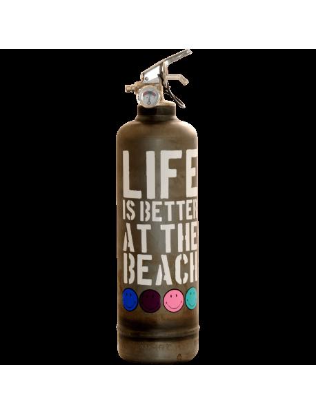 fire extinguisher design Smiley Beach vintage