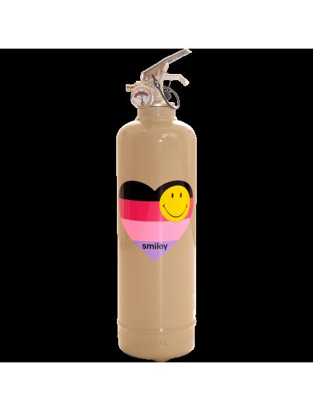 Fire extinguisher design Smiley Coeur light brown