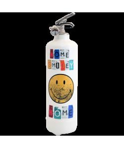 Fire extinguisher design Smiley Home white