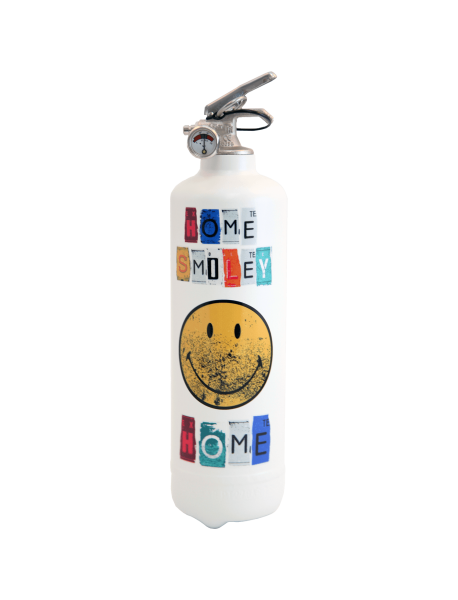 Estintore design Smiley Home bianco