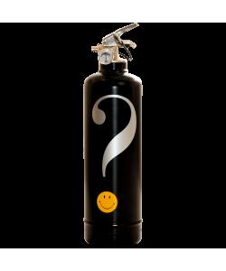 Fire extinguisher design Smiley Interrogation black
