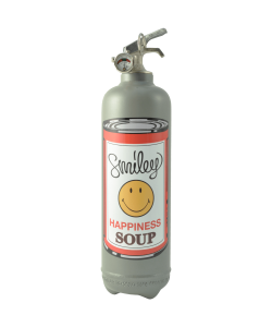 extincteur déco Smiley Soup gris