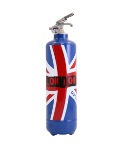 Fire extinguisher design London Flag blue