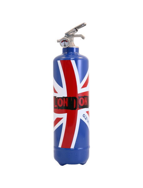 Estintore design London Flag blu