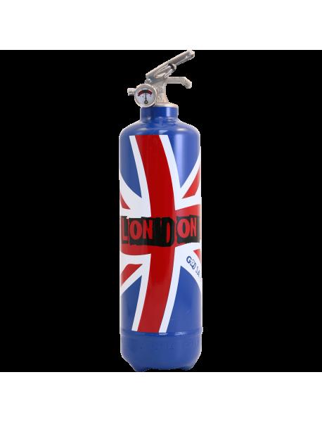 Extincteur design London Flag bleu