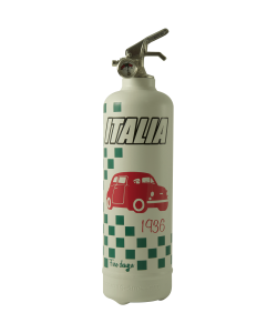 Fire extinguisher design Italia car white