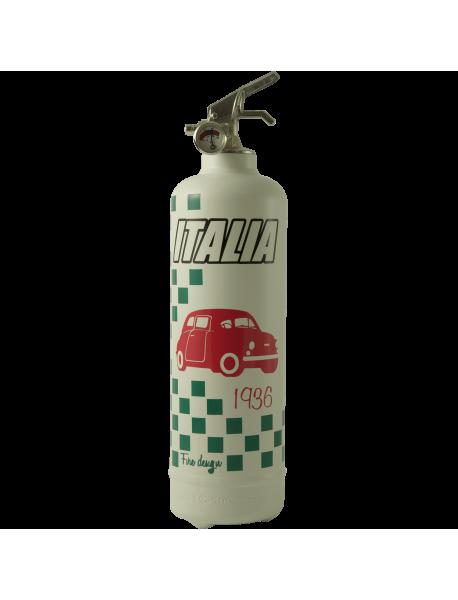 Extincteur déco Italia car blanc