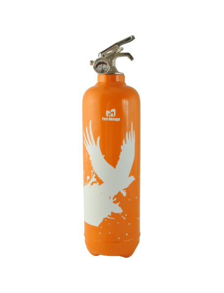 Extincteur déco Birdflight orange
