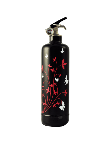 Fire extinguisher design Butterfly black