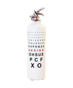 Fire extinguisher design Ophtalmique white
