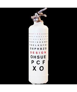 Fire extinguisher design Ophtalmique white