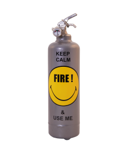 Fire extinguisher design Smiley Keep Calm grey