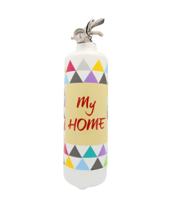 Fire extinguisher design y Home white