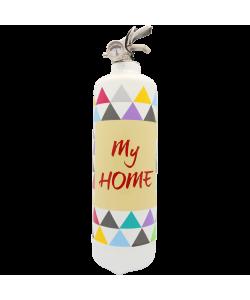 Fire extinguisher design y Home white