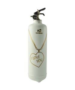 Fire extinguisher design Pendentif white gold
