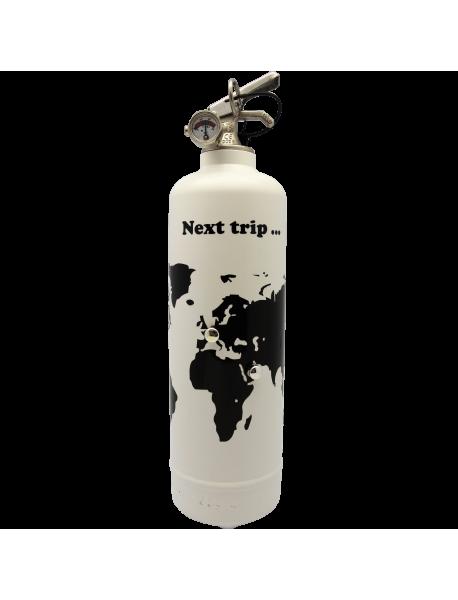 Extincteur design Next trip blanc