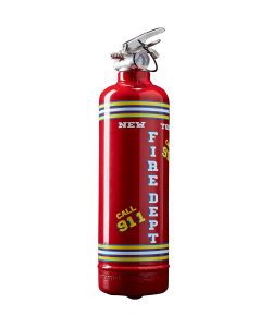 Extincteur design Fire Dept rouge
