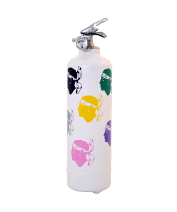 Fire extinguisher design Corsica Colors white