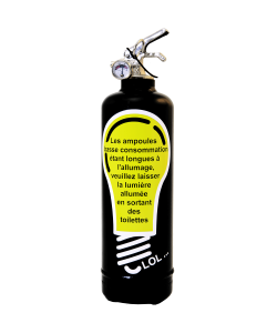 Fire extinguisher design Ampoule black