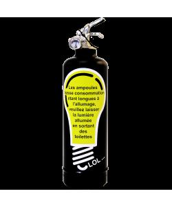 Fire extinguisher design Ampoule black