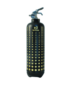 Fire extinguisher design Led black