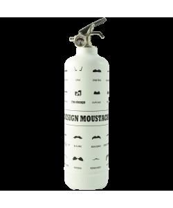 Fire extinguisher design Moustache white
