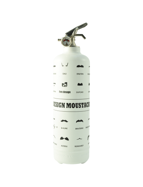 Fire extinguisher design Moustache white