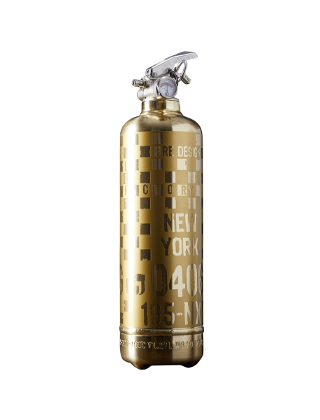 Fire extinguisher design Rallye RG gold