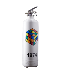 Fire extinguisher design Rubiks 1974 classic