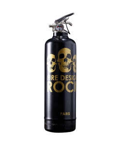 Fire extinguisher design Rock black gold