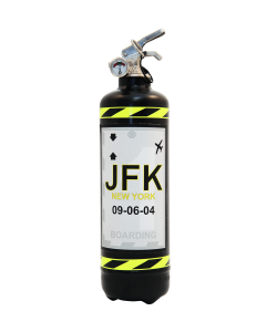 Fire extinguisher powder ABC Fly JFK black