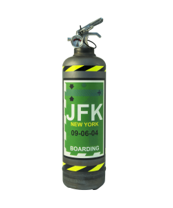 Fire extinguisher powder ABC Fly JFK vintage