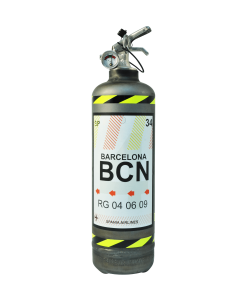Fire extinguisher powder ABC Fly Barcelona vintage