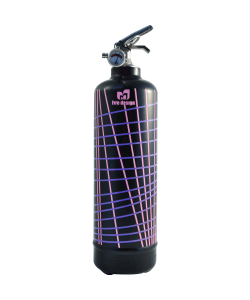 Fire extinguisher design Lines black pink
