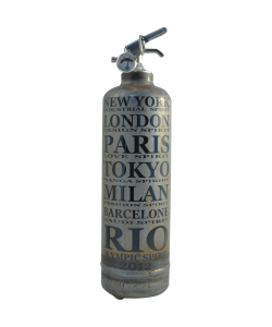 Fire extinguisher design Spirit Cities vintage