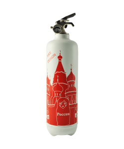 Fire extinguisher design Moscow white
