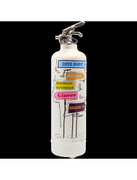 Fire extinguisher design POP LOLLI Signalisation white