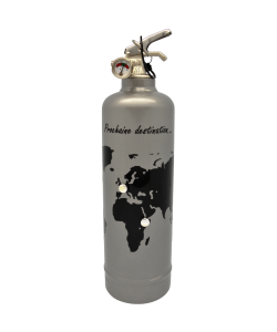 Fire extinguisher design Prochaine destination grey