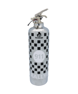 Car fire extinguisher 911 Rallye chrome black